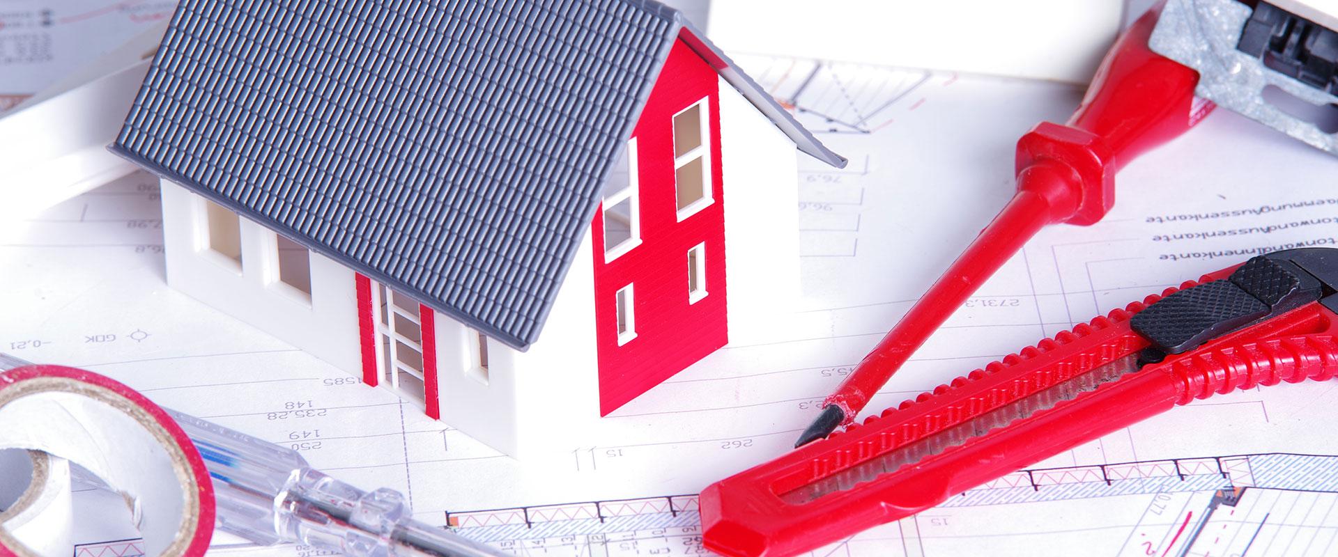 Abbildung Modellhaus auf Grundriss