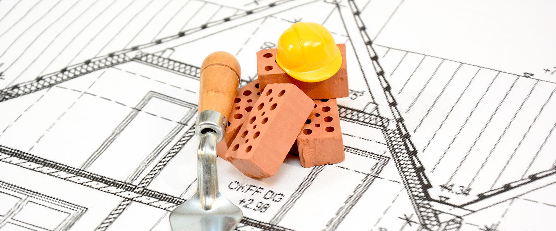 Abbildung Bausteine auf Grundriss